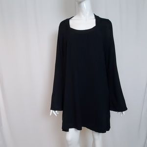 Lane Bryant Black Long Sleeve Sweater Tunic Dress